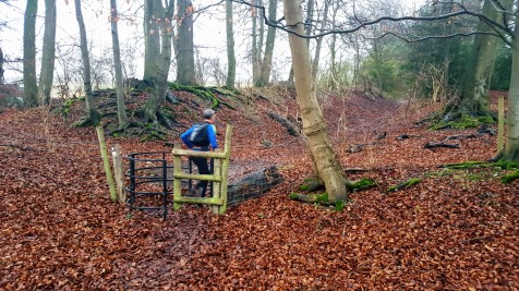 Kissing gate, a nice resting moment